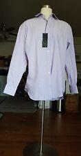 Enzo Mantovani Dress Purple & White Stripe Shirt Size 2XL