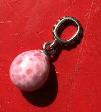Pandora Pink Speckled Beauty Dangle Glass Bead Charm 791600 Egg