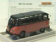 "Brekina VW t1 samba ""economy"", rojo/negro - 31824 - 1/87"