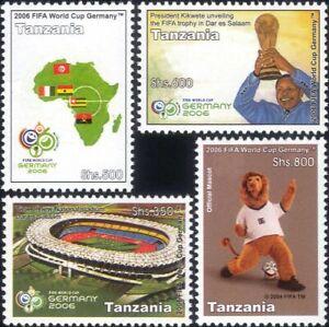 Tanzania 2006 Football/WC/World Cup/Sports/Games/Trophy/Stadium 4v set (n33710a)