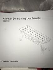 Wheaton Dining Bench-Rustic- 56 Inches
