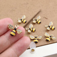 5pcs Diamante Bee Alloy Charms Pendant Jewelry Finding DIY Fit Nacklace Making