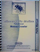 Minneapolis Moline Motrac Tractor Parts Manual Catalog