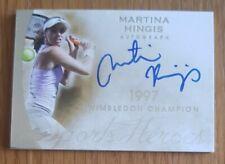 2014 Leaf Sports Heroes Tennis Card Martina Hingis on Card Autograph