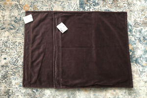 """NWT Pottery Barn 20"""" Washed Velvet Pillow Cover Napa Grape Lot Of 2"""