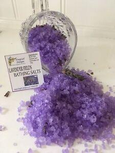 Bath salts Aromatherapy LAVENDER essential oil 1kg  bath crystals scrub