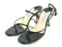 Jimmy Choo Eve Women's Ankle Strap Heels Size EU 38 US 8 Black Made In Italy