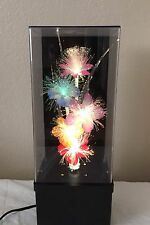 FIBER OPTIC Flower Lamp Color Changing Light w/ Music Box
