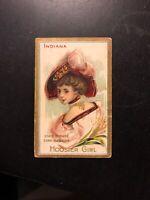 Vintage Fatima Turkish Cigarettes Card #1 State Girl Series
