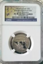 2019 S Clad Quarter - 25C Pacific Historical Park - Ngc Pf 70 Guam First Release