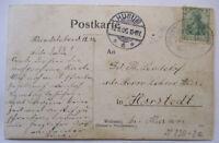 Railway post Office Sonderburg Norburg 1906 Hundsleben To Horstedt Husum (64608)