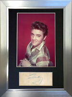 ELVIS PRESLEY Signed Autograph Mounted Photo Repro A4 Print 70