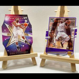 2x Panini Clearly Donruss Zion Williamson Star Gazing LeBron James Card #2 #49
