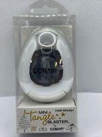 Conair Mini Tangle Blaster Hair Brush Silver New Free Shipping