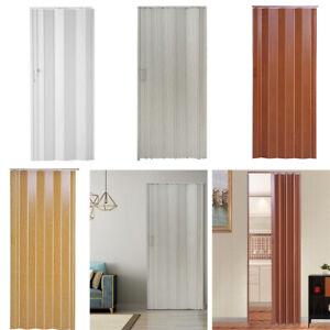 New Folding Door PVC Internal Doors Sliding Plastic Panel Divider Indoor Utility