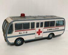ASAKUSA Friction Ambulance Bus Vintage Tin Toy Made In Japan