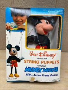 Walt Disney , Mickey Mouse , String Puppet , In Box