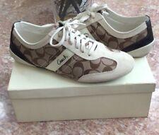 Coach Baylee 12CM Women's Signature Khaki/Parch Tennis Shoes Size 11M A1474 EUC!