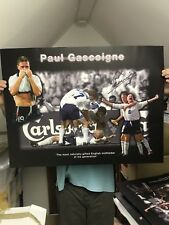 PAUL GASCOIGNE GIANT ENGLAND MONTAGE. REALLY GREAT £25