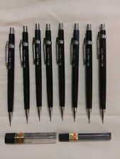 PENTAL P205 0.5mm MECHANICAL PENCIL LOT OF 8 VINTAGE WITH LEAD