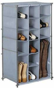 Sturdy Fabric Shoe & Boot Rack Organize Laundry Room Closet Portable Storage