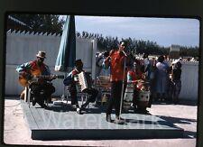1961 kodachrome photo slide  Calypso Band guitar accordian Musical instruments