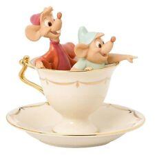 Lenox ~ Tea Party Pals Figurine ~ Cup Disney Cinderella Mice Gus Jaq NEW COA