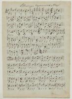 OLDENBURG Siegesmarsch NOTEN Musik Handschrift Orig Notenblatt um1790 Österreich