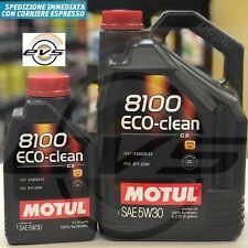 6 Lt Litri Olio Motor MOTUL 8100 ECO-CLEAN 5W30 C2 PSA B71 2290 FIAT 9.55535-S1