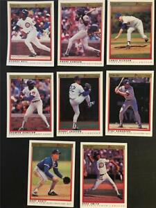 1991 OPC O-Pee-Chee Premier Chicago Cubs Team Set 8 Cards