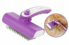 Poodle Pet Self-Cleaning Retractable Steel Pin Grooming Brush for Dogs