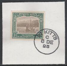 Saint Kitts 5471-KG5 1/2d Uovo del Tricentenario dei su pezzo con MADAME Joseph FORGIATO Annulla