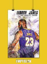 LeBron James Lakers Poster 23 Jersey Art Print