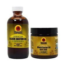 Tropic Isle Living Jamaican Black Castor Oil + Hair Food 4 Oz Duo