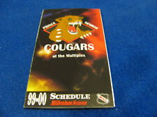 Prince George Cougars 1999/00 WHL Minor Hockey Pocket Schedule - ReMax