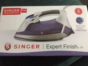 SINGER Expert Finish EF Iron 1700W Anti-Drip Stainless Steel Open Soleplate NIB