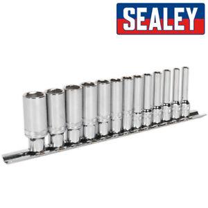 Sealey AK2747 Tief Sockel Mit Lock-On™ Technologie 0.6cm Dr.4mm - 14mm Auf Zug