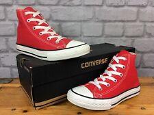 CONVERSE UK 1 EU 33 CTAS RED HI CANVAS TRAINERS GIRLS BOYS CHILDRENS