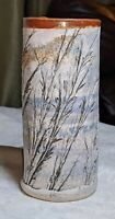 "Alan Steinberg Studio Pottery 6"" Slab Vase Brattleboro Clayworks Nature Beach"