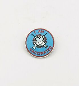 I Am Vaccinated Lapel Pin