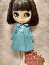 Blythe Outfit Clothing Sky Blue Flannelet Jacket Coat