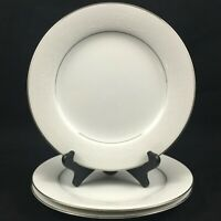 "Set of 3 VTG Salad Plates 8 1/4"" by Noritake Whitehall 6115 Platinum Japan"