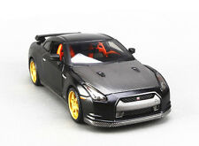 1:24 Nissan GT-R GTR Diecast Model Roadster Car Vehicle Matte Black New