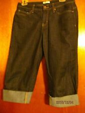Womens Lee' lower on the waist below the  knee  cuffed indigo denim jean 8