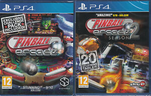 The Pinball Arcade 1 and Season 2 Dual Pack PS4 Brand New Sealed 2 games Combo