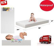 New ListingMattress Crib Foam Toddler Bed Baby Waterproof Infant Comfort Sleep Cushion Pad