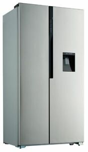 Side by Side Kühlschrank Wasserspender Kühl- Gefrierkombination Edelstahl Design