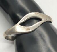 "Vintage Sterling Silver Bracelet 925 6.5"" Taxco Mexico Modernist 20 Grams"