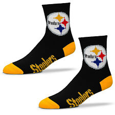 Football Pittsburgh Steelers Socks 501 Quarter Length Large Size Men 10-13 Shoe
