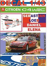 DECAL 1/43 CITROEN C4 WRC S.LOEB R.FINLAND 2007 3rd (01)